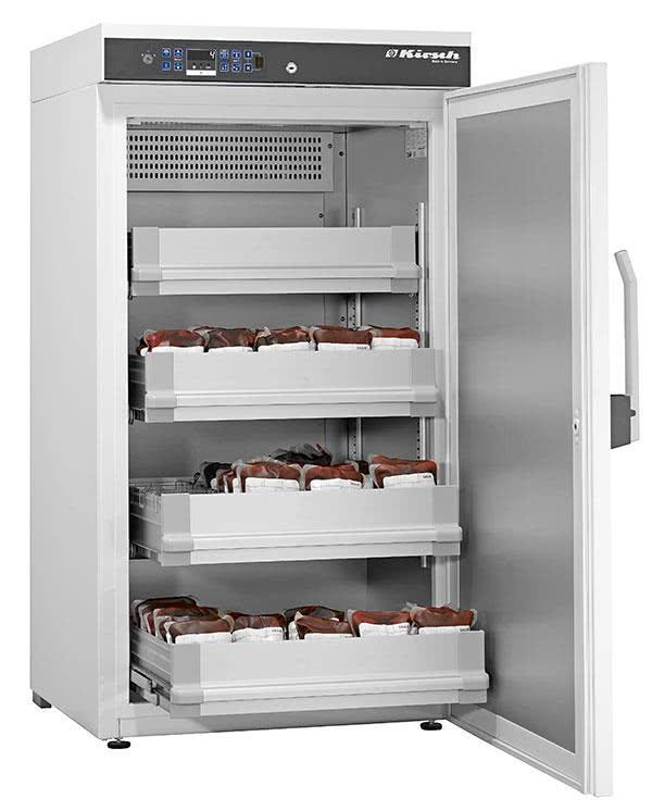 Blutkonservenkühlschrank BL 300 PRO-ACTIVE von Kirsch mit offener Standardtüre für die Lagerung von Blut