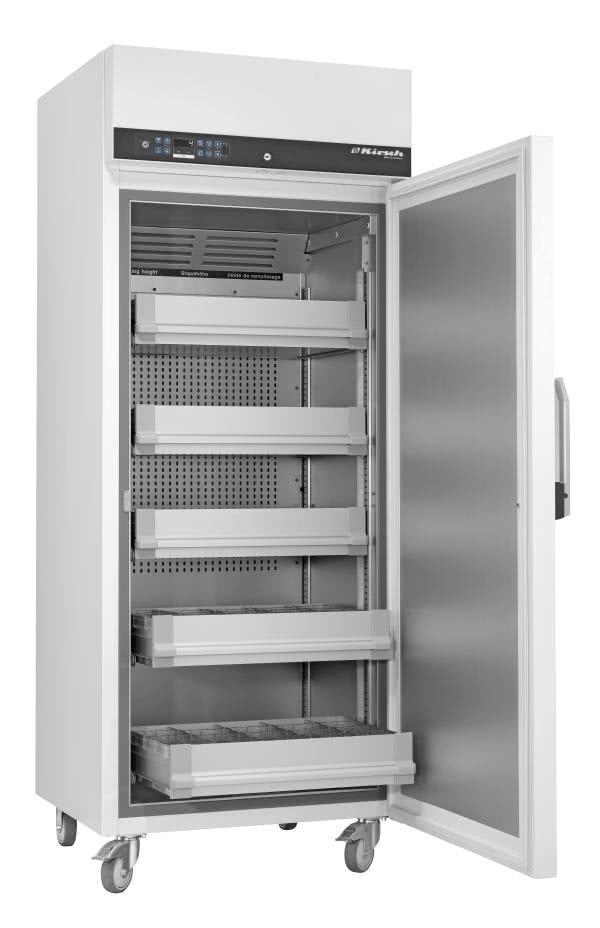 Blutkonservenkühlschrank BL 720 PRO-ACTIVE von Kirsch mit offener Standardtüre für die Lagerung von Blut