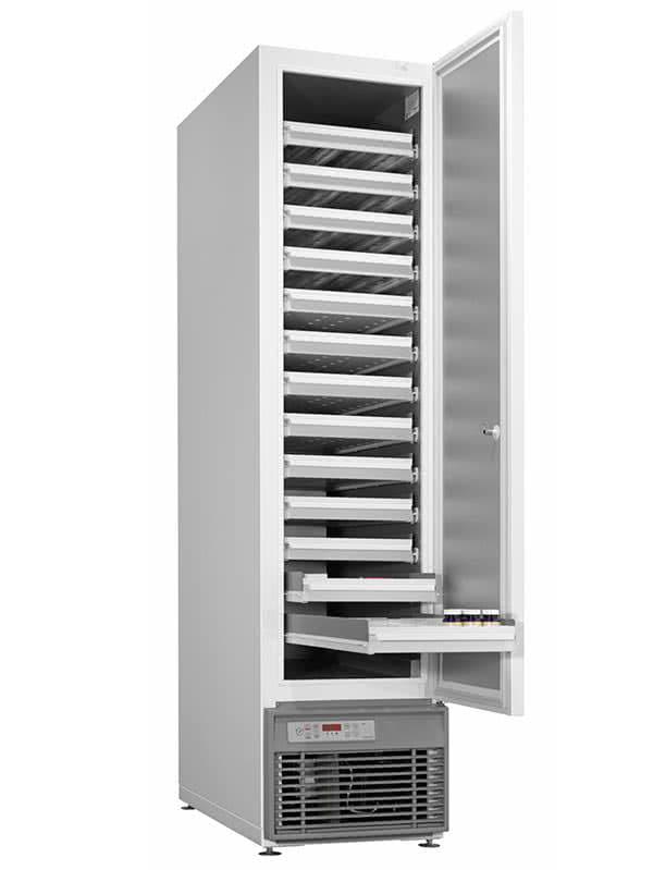 Medikamentenkühlschrank MED-600-S von Kirsch mit offener Standardtüre