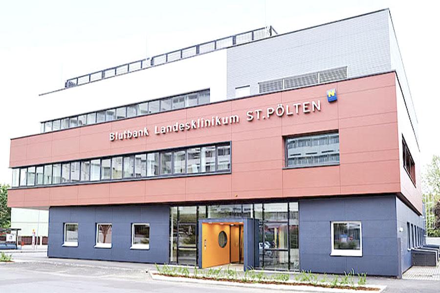 Gebäude der Blutbank St. Pölten