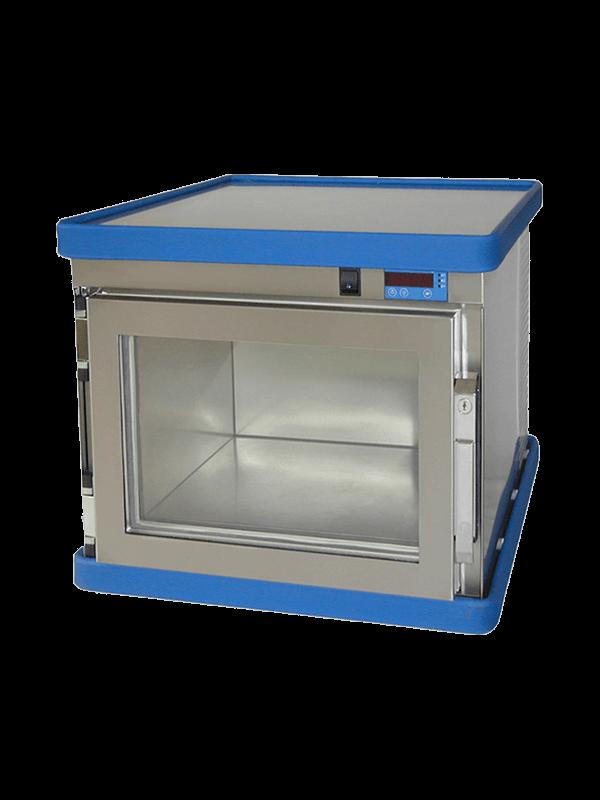Labor / Industrie Gefrierbox B 30-20 von FRYKA mit geschlossener Isolierglastüre und Ansicht von der Seite