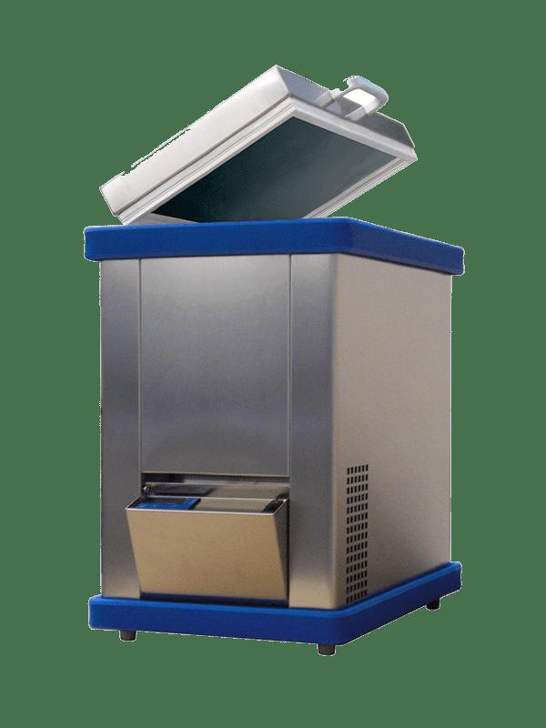 Labor/Industrie Mini-Tiefkühltruhe KBT 08-51 von FRYKA | Ansicht von der Seite