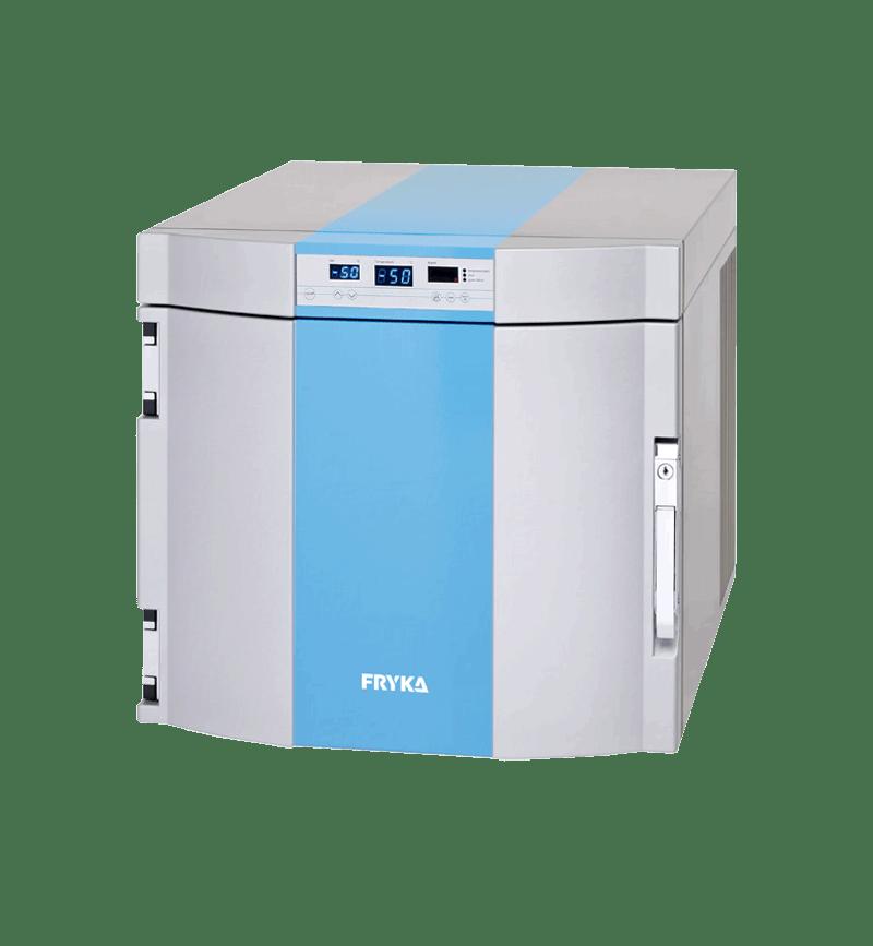 Labor/Industrie Tiefkühlbox B 35-50 von FRYKA mit geschlossener Standardtür und Ansicht von der Seite