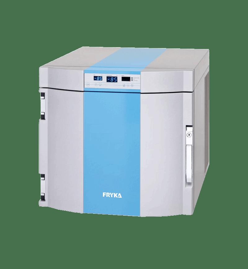 Labor/Industrie Ultratiefkühlbox B 35-85 von FRYKA mit geschlossener Standardtür und Ansicht von der Seite