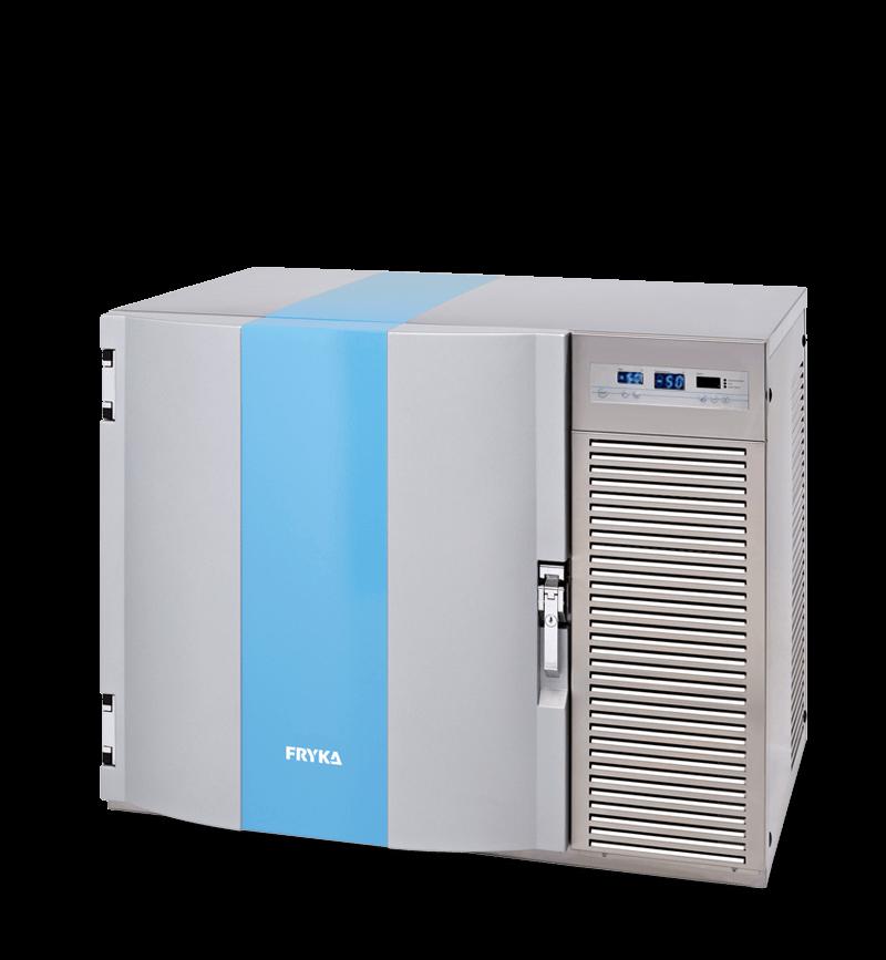 Labor / Industrie Unterbautiefkühlschrank TUS 50-100 von FRYKA mit geschlossener Standardtüre und Ansicht von der Seite