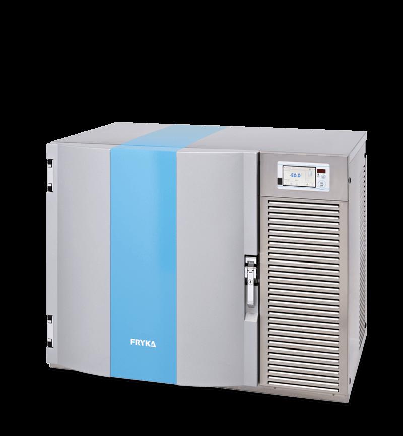 Labor / Industrie Unterbautiefkühlschrank TUS 50-100 logg von FRYKA mit geschlossener Standardtüre und Ansicht von der Seite