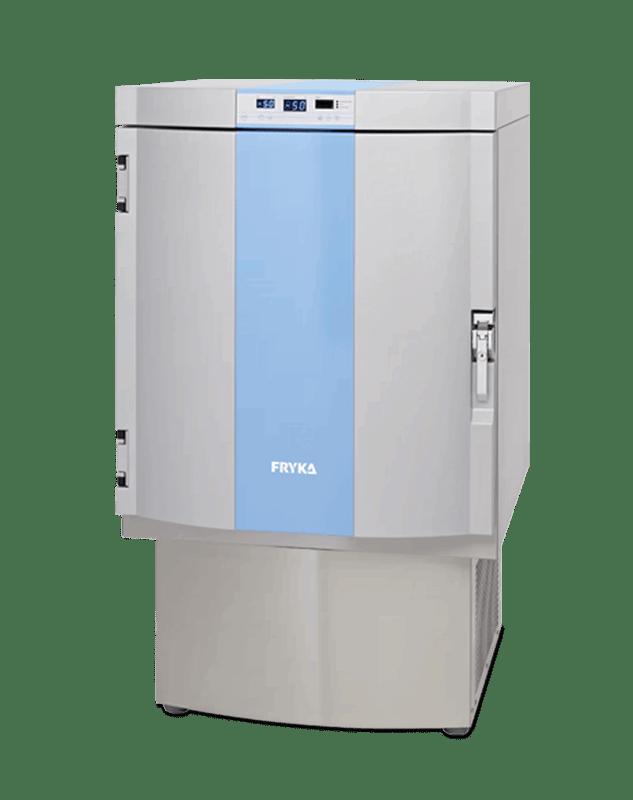 Labor / Industrie Tiefkühlschrank TS 50-100 von FRYKA mit geschlossener Standardtüre und Ansicht von der Seite