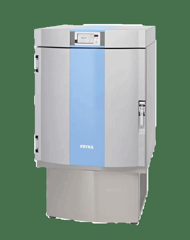 Labor / Industrie Ultratiefkühlschrank TS 80-100 logg von FRYKA mit geschlossener Standardtüre und Ansicht von der Seite