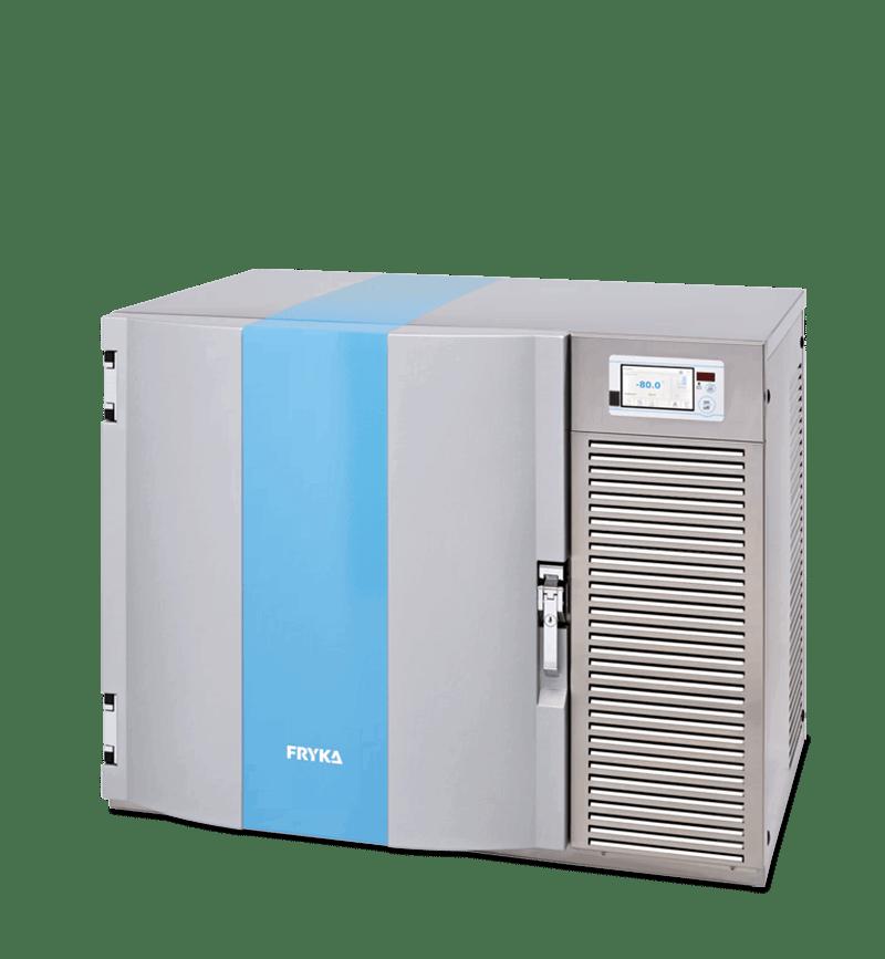 Labor/Industrie Ultratiefkühl-Unterbauschrank TUS 80-100 logg von FRYKA mit geschlossener Standardtür und Ansicht von der Seite