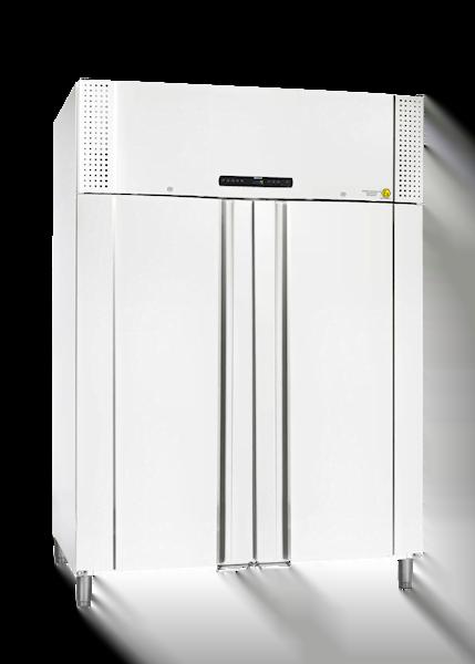 Explosionsgeschützter Laborkühlschrank BioPlus ER1400 von Gram mit geschlossener Standardtüre und Ansicht von der Seite