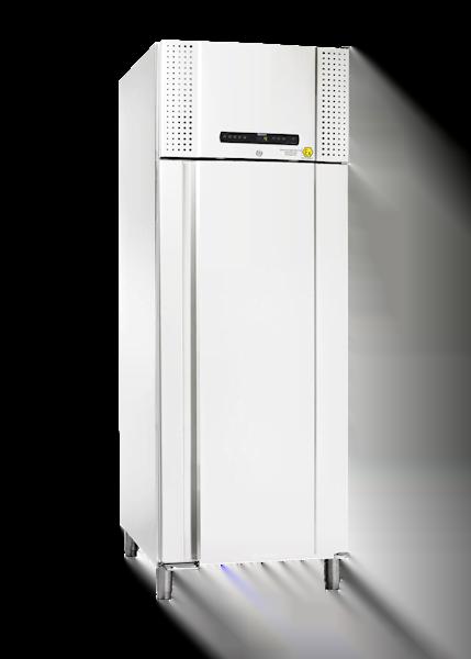 Explosionsgeschützter Laborkühlschrank BioPlus ER930 von Gram mit geschlossener Standardtüre und Ansicht von der Seite
