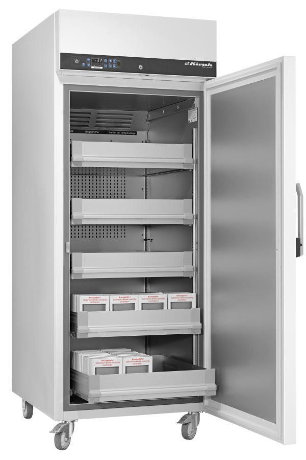 Blutplasmagefrierschrank FROSTER BL 530 PRO-ACTIVE von Kirsch mit offener Standardtüre für Lagerung von Blutplasma