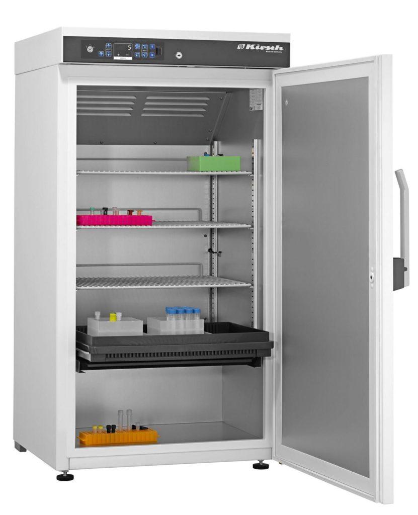 Explosionsgeschützter Laborkühlschrank LABEX 288 Pro-Active von Kirsch mit offener Standardtüre