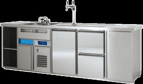 Kühlpult für den Gastronomiebedarf und zur Gastrokühlung von Leitner Kältetechnik
