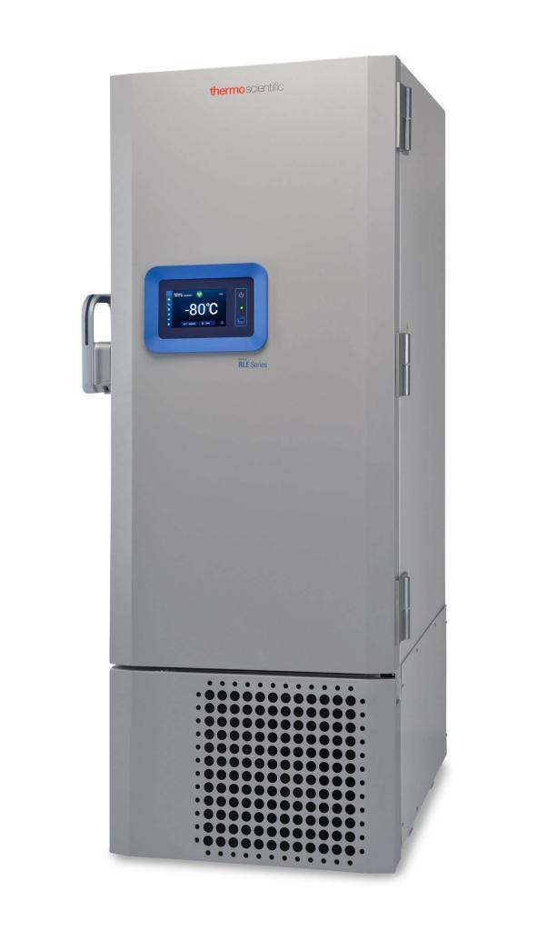 Labor Ultratiefkühlschrank RLE40086V von Thermo Scientific REVCO mit geschlossener Standardtüre und Ansicht von der Seite